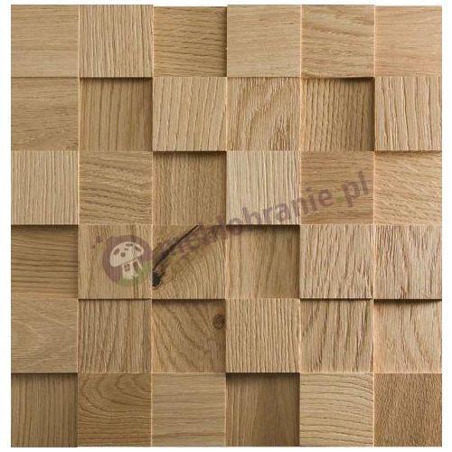 Panele drewniane Dąb naturalny – surowy kostka gładka *044 - Natural Wood Panels (panel ścienny)