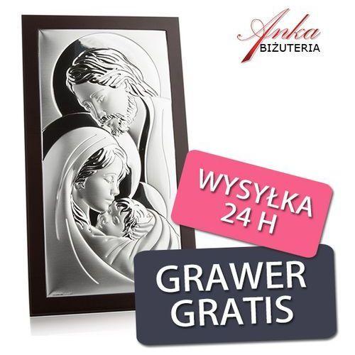 Obrazek srebrny Święta Rodzina 14 cm *26 cm