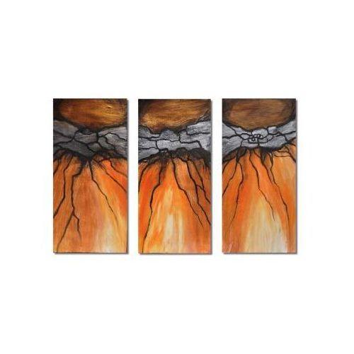 Metaliczny, abstrakcja, nowoczesny obraz ręcznie malowany (obraz)