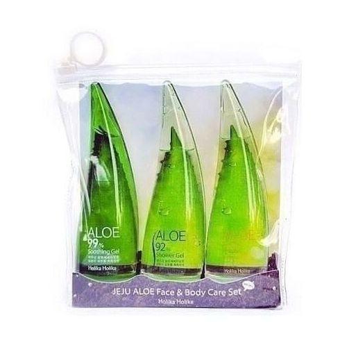 Holika Holika Jeju Aloe zestaw 3 mini produktów do twarzy i ciała z aloesem, 8806334361440