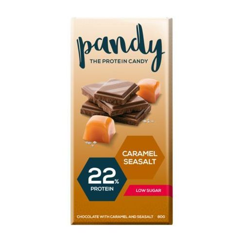 Pandy protein - czekolada proteinowa bez dodatku cukru 80g - solony karmel (7350000150698)