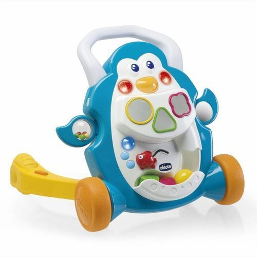 Chodzik pchacz grający pingwin, zabawka interaktywna CHICCO, AM_8003670735625