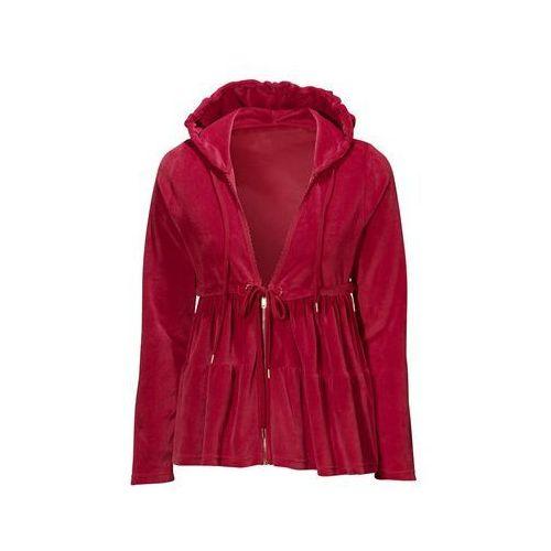 Halens - kurtka z weluru czerwona