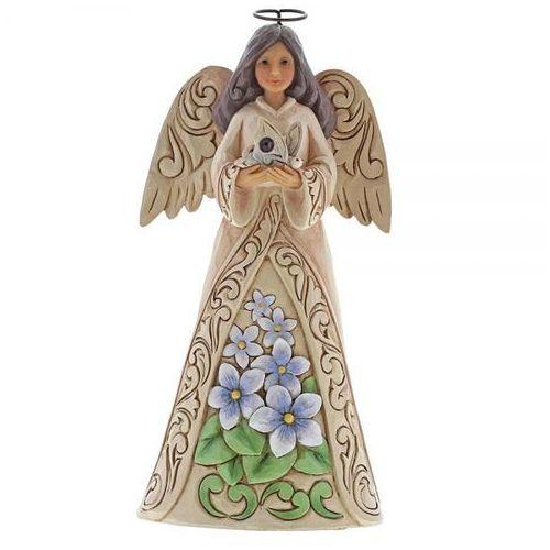 Jim shore Anioł luty patron urodzonych w lutym february angel 6001563 , pamiątka narodzin, chrztu figurka dewocjonalia
