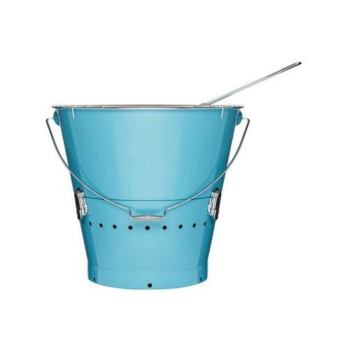 Duży grill w kształcie wiaderka - niebieski - oferta [05676e213525e5c5]