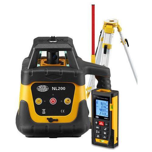 Niwelator laserowy Nivel System NL200 + statyw SJJ1 + łata LS-24 + dalmierz laserowy HDM-5