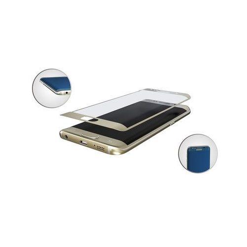 szkło hartowane hardglass max do samsung galaxy s7 edge złoty - złoty marki 3mk