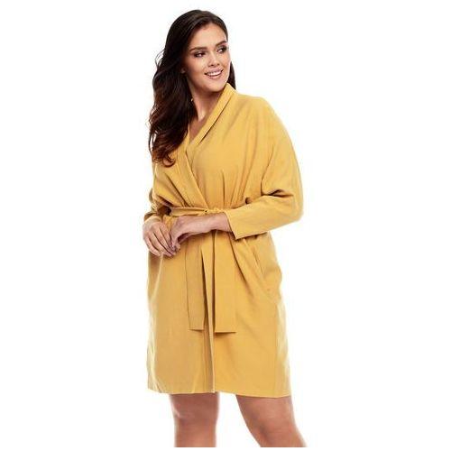 Sukienka Aiko w kolorze żółtym, kolor żółty