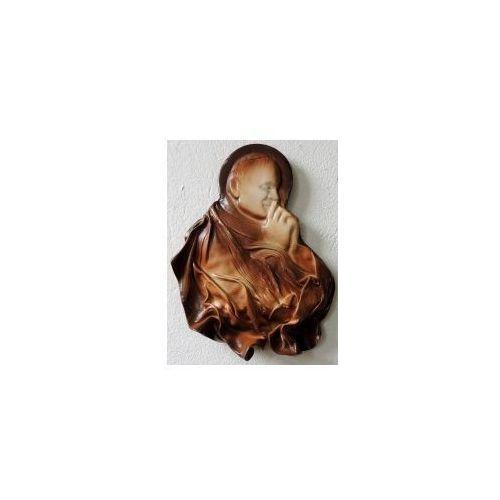 Art deco Święty papież jan paweł ii - płaskorzeźba w skórze na prezent - pn-3