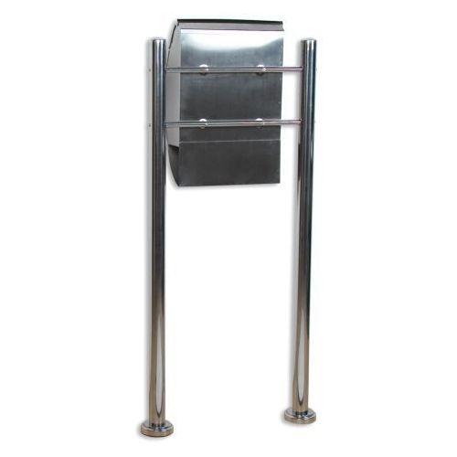 Skrzynka na listy stojąca ze stali nierdzewnej 126 cm (skrzynka na listy)