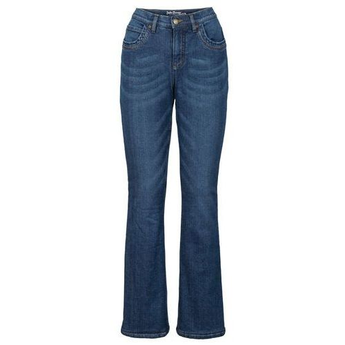 Dżinsy ocieplane ze stretchem Bootcut bonprix niebieski, jeans