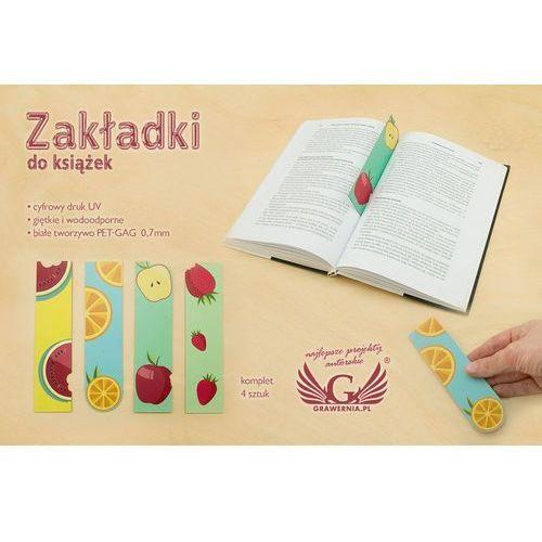 Zakładki do książek komplet 4 szt - owocowe - cyfrowy druk UV - ZAK002