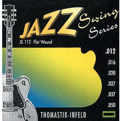 js112 (676727) struny do gitary elektrycznej jazz swing series nickel flat wound komplet marki Thomastik