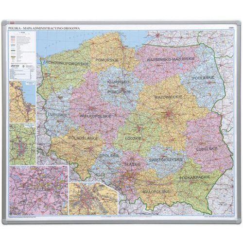 2x3 Tablica mapa officeboard – mapa administracyjna polski 102,5x120cm, płyta magnetyczna lakierowana