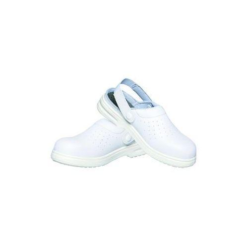 42ad6068735cf Karlowsky Obuwie ochronne z paskiem, unisex, rozmiar 46, białe | , oxford  250,16 zł Uniwersalne obuwie z antybakteryjną wkładką. Antystatyczne,  olejoodporne ...