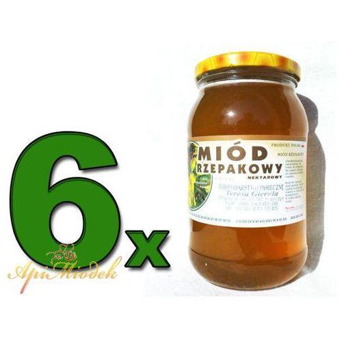 Zestaw 6 x miód rzepakowy 1,3 kg marki Pasieka apimiodek