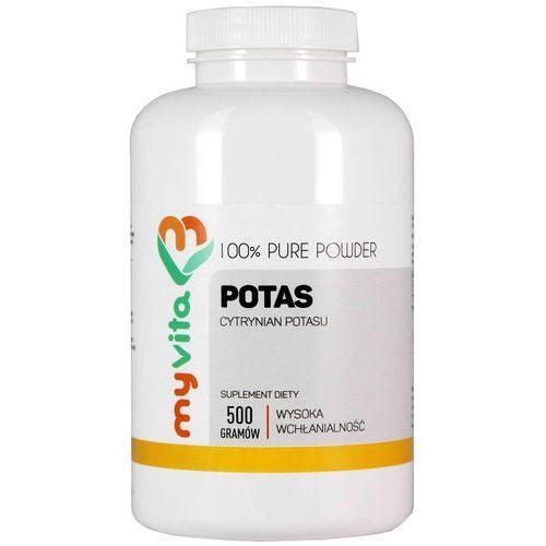 Potas 100% Cytrynian potasu czysty proszek bez dodatków 500g MyVita (5906874332702)
