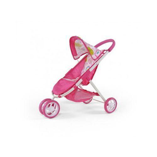 Wózek dla lalek ZUZIA zabawka różowo-biały (wózek dla lalki)
