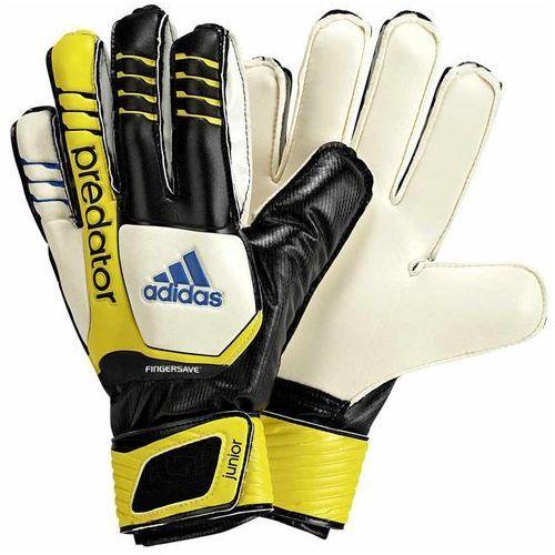 Nowe rękawice bramkarskie predator fingersave jr rozmiar 8 marki Adidas