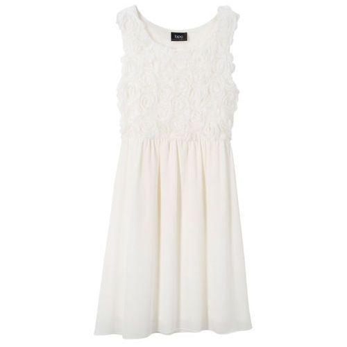 e196706eed Sukienka na uroczyste okazje biel wełny marki Bonprix 89