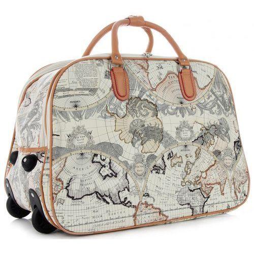 ca14c8310eedb ... Torba podróżna na kółkach ze stelażem world multikolor biała (kolory)  marki Or&mi 99,00 zł OR&MI - genialna torba podróżna w paryskie znaczki z  ...