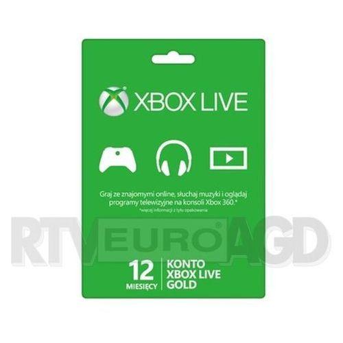 Subskrypcja Xbox Live Gold (12 m-cy karta zdrapka) - produkt w magazynie - szybka wysyłka!