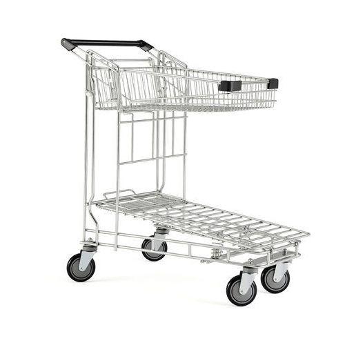Wózek sklepowy z siatki obciążenie 200 kg 1010x580x1030 mm