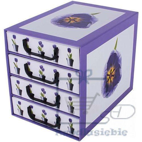 Miss space Pudełko kartonowe 4 szuflady pionowe doniczki-tulipany (8033695872258)