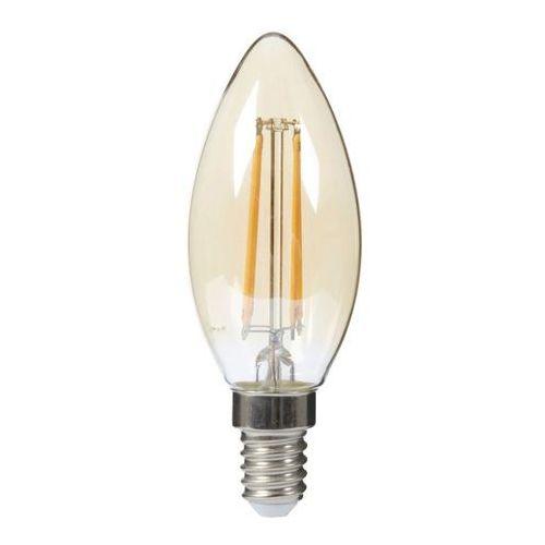 Żarówka LED Diall Filament Gold C35 E14 4 W 250 lm przezroczysta barwa ciepła, F34WE1G118
