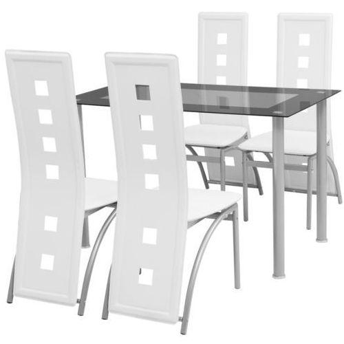 vidaXL Zestaw mebli do jadalni - 5 elementów Biały - produkt z kategorii- Zestawy mebli kuchennych