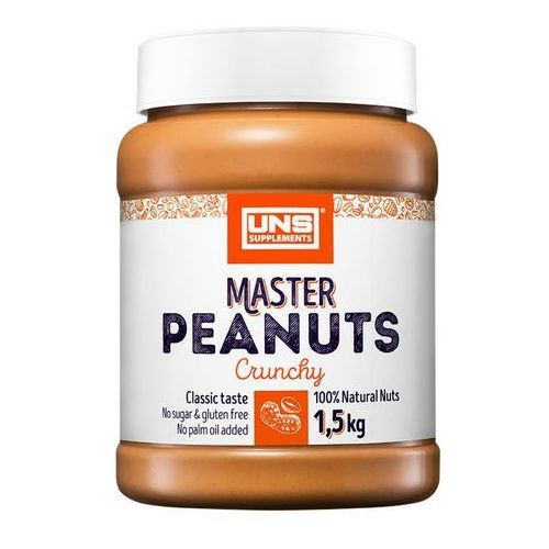 Uns Masło orzechowe master arachidowe crunchy 1500g najlepszy produkt (5902497561482)