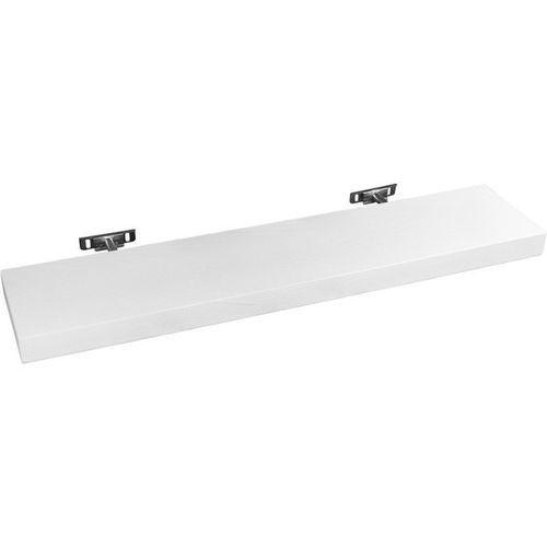 Stilista ® Biała półka naścienna wisząca saliento 90 cm - 90 cm