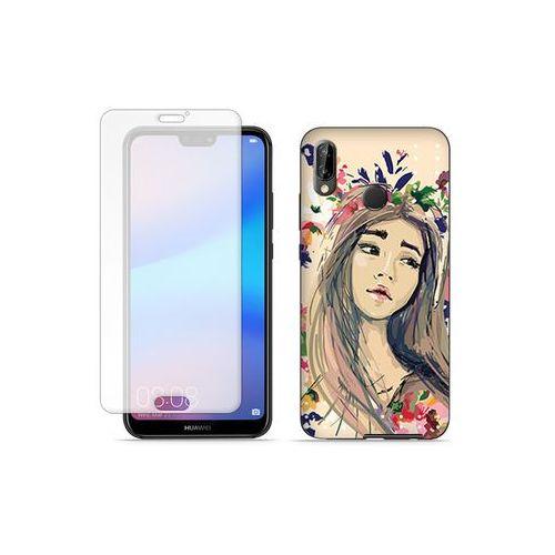Huawei P20 Lite - etui na telefon Full Body Slim Fantastic - kolorowy wianek