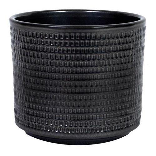 Osłonka doniczki Cermax Calla cylinder 12 cm stare srebro (4013738112538)