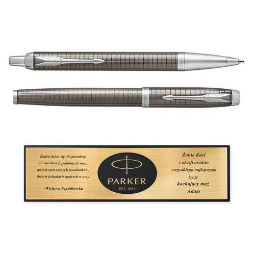 Zestaw parker pióro długopis im dark espresso grawer marki Murrano