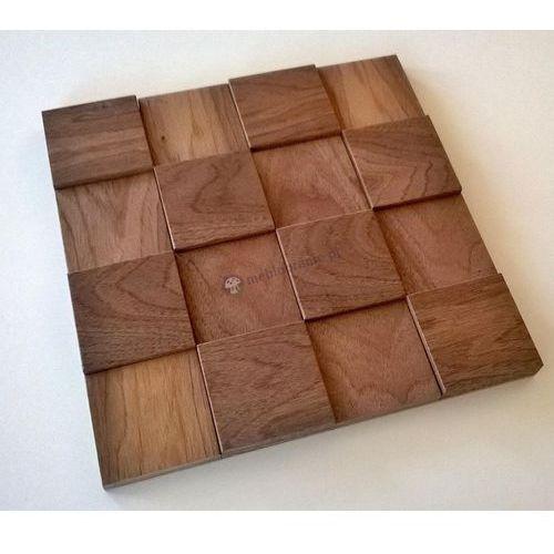 Panele drewniane Orzech Kostka gładka Big 3D *018 - Natural Wood Panels - produkt dostępny w Meblobranie.pl