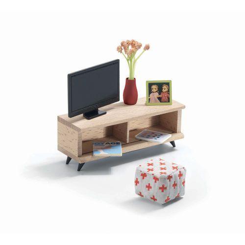Salon z telewizorem meble do domku dla lalek, , Djeco z Dadum.pl