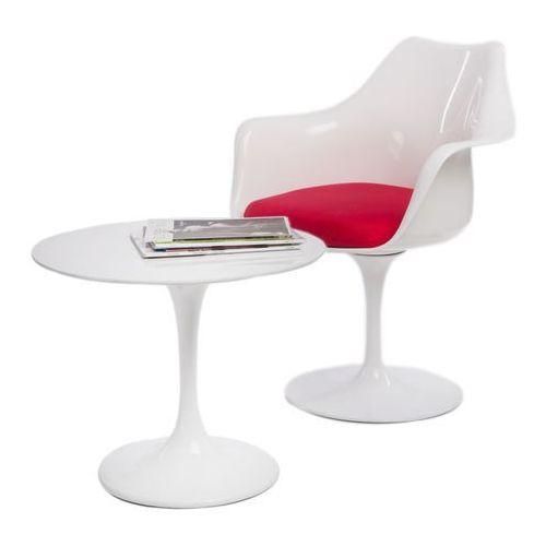 D2.design Stolik kawowy fiber o60 biały włókno szklane