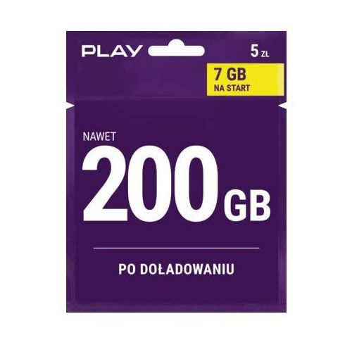 Play Starter internet na kartę 5pln (5902385920315)