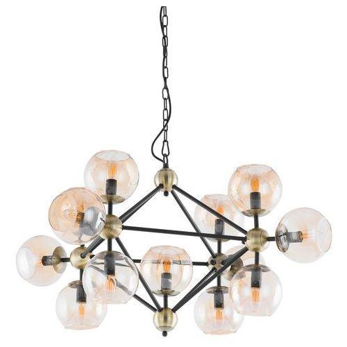 Lampa wisząca zwis rebekka 13x60w e14 czarna / brąz / złota 10293/13p marki Italux