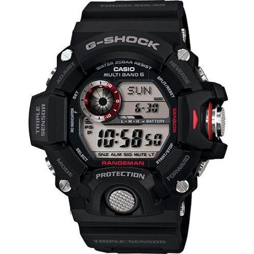 g-shock professional rangeman zegarek gw-9400-1 - czarny marki Casio