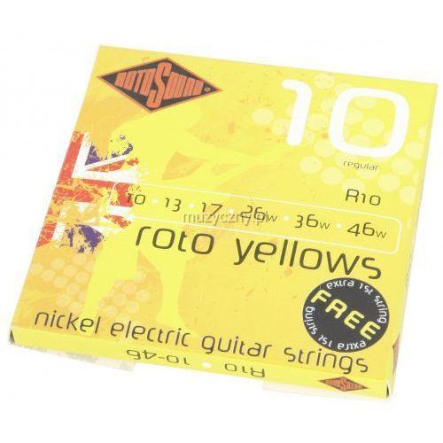 r-10 roto yellows struny do gitary elektrycznej 10-46 marki Rotosound