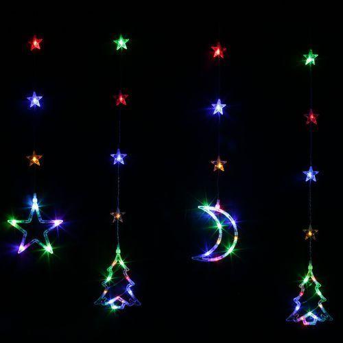 Kurtyna LED wewnętrzna 72L z dekoracjami świątecznymi, multikolor, 1m,  (21-601), marki Bulinex do zakupu w Bank Kabli