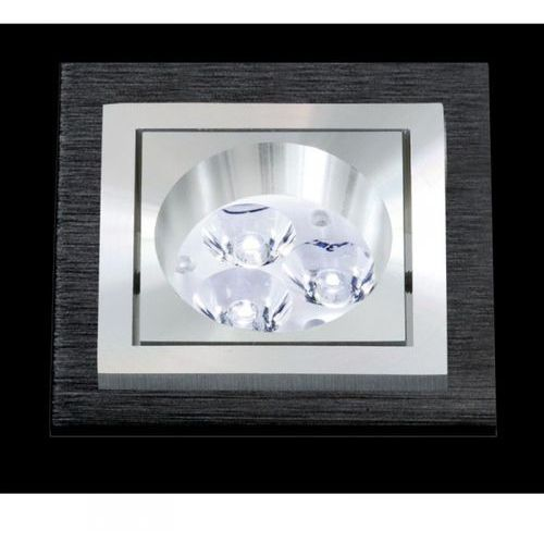 oczko kwadratowe SQUARE aluminium szczotkowane czarne LED, BPM LIGHTING 3074LED1