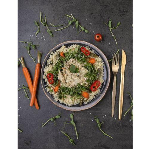 Sportfood Indyk green curry z kaffirem podany na ryżu parabolicznym / niepasteryzowane