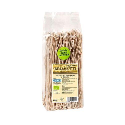 Niro 400g spaghetti makaron pełnoziarnisty z orkiszu ekologiczny bio