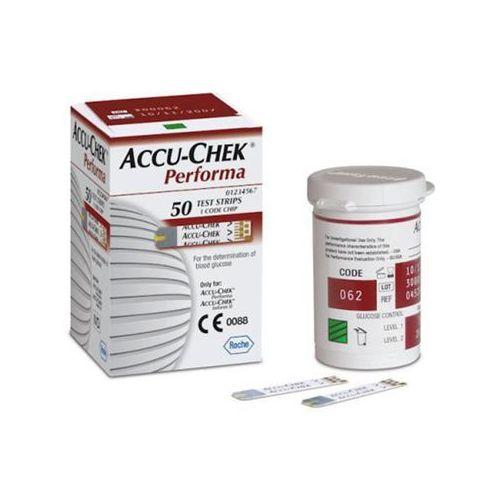 Accu-chek performa test pask. 50 pask. od producenta Roche diagnostics gmbh niemcy