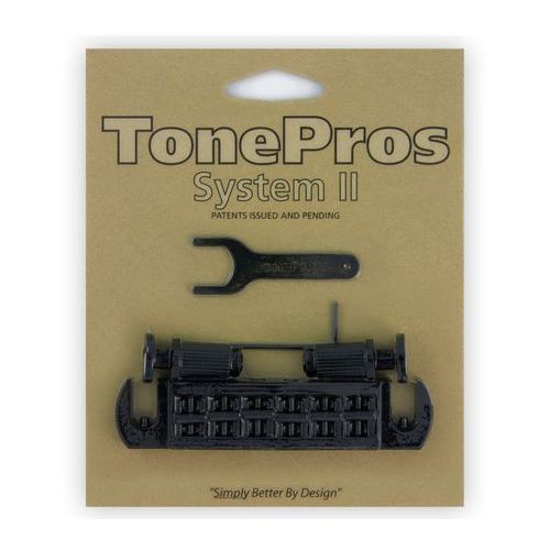 Tonepros avt2m-b - wraparound bridge, mostek do gitary, czarny