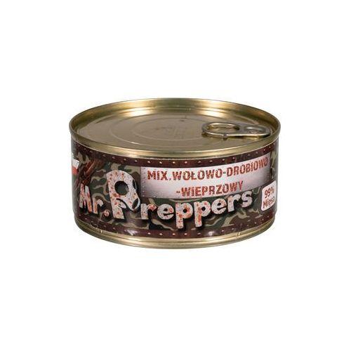 Konserwa wołowo-drobiowo-wieprzowa 300 g marki Mr. preppers