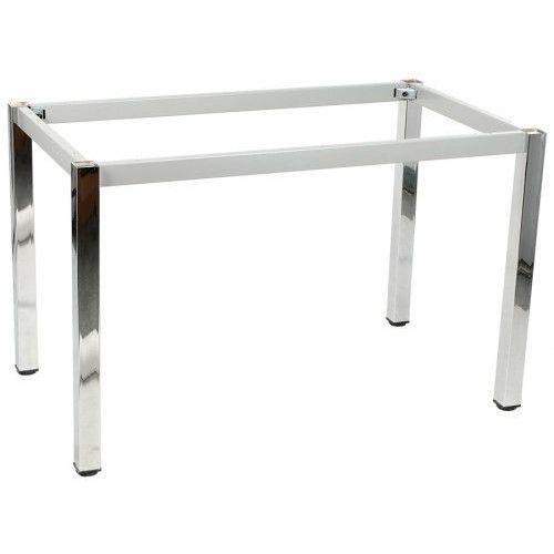 Stelaż ramowy stołu chromowany, 116x76 cm, noga kwadratowa